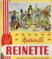 Buvard Biscottes Reinette, Naturelle. Illustration Thème Napoléon : Napoléon, Le Dernier Carré De Waterloo. - Biscottes