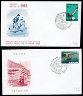 Belgien Belgie Belgium 1970 - Sport Angeln Hockey - MiNr 1606-1607 FDC - Briefmarken