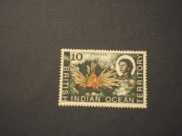0CEANO INDIANO - 1968 PESCE 10 RS. - NUOVI(++) - Territorio Britannico Dell'Oceano Indiano
