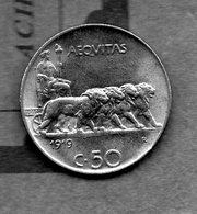 Italie - 50 Centesimi 1919 - 1861-1946: Königreich