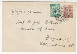 Yugoslavia Letter Cover Travelled 1946 Split To Zagreb B180910 - 1945-1992 Sozialistische Föderative Republik Jugoslawien