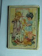 Garcon Et Fille Se Brosser Les Dents Boy And Girl Toothbrushing - Kinderen