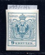 Österreich, Ca.1900, Neudruck 9 Kreuzer, ND5/1884, Postfrisch (16971E) - Proofs & Reprints