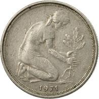 Monnaie, République Fédérale Allemande, 50 Pfennig, 1971, Stuttgart, TTB - [ 6] 1949-1990 : GDR - German Dem. Rep.