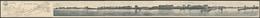Klapp-AK Vlissingen, Panorama-Gesamtansicht Vom Meer Aus Mit Seebrücken Und Karte Der Nordsee - Vlissingen