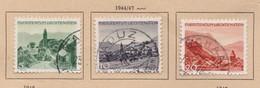 LIECHTENSTEIN 1944: 'Paysages' 5c, 10c Et 20c (ZNr 189-190 Et 192),  Oblitérés - Gebraucht
