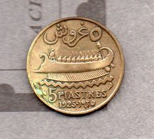 Etat Du Grand Liban - 5 Piastres 1925 - Lebanon