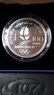 100 FRANCS JO D' ALBERTVILLE 1992 BOBSLEIGH EN FDC - N. 100 Francs