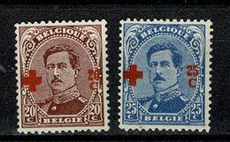 België/Belgique 1918 -  155/156**  - Cote € 210,00 (2 Scans) - 1918 Rotes Kreuz