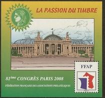 FRANCE Bloc FFAP N°2 (PARIS 2008) - Cote 12.00 € - FFAP
