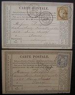 Abbeville (Somme) 1876 Cardon Wamain Fils Et Gendre  Chanvre Fils Et Ficelles, Lot De 2 Cartes Précurseur (lot 2) - Postmark Collection (Covers)