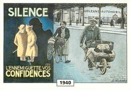 Illustrateur Roussey - Enghien Les Bains - Guerre 1939-45 - Silence L'ennemi Guette Vos Confidences - Orleans Automobile - Roussey