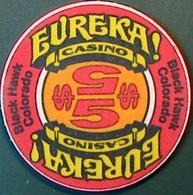 $5 Casino Chip. Eureka, Black Hawk, CO. M88. - Casino