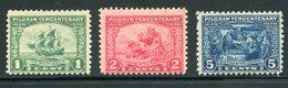 US #548-50(*) Vlh   Pilgrim Tercentenary   1920 - United States
