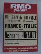 AFFICHE Cyclisme 1984 France Italie Au Vel D'Hiv De GRENOBLE - Wielrennen