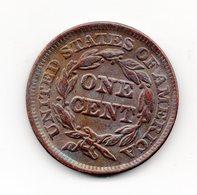 USA : 1 Cent 1844 - 1840-1857: Braided Hair (Capelli Intrecciati)