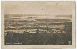Real Photo Utsigt Fra Holmenkollen  Eneret PPI 1085 P. Used  Kristiana 1921 Envoi General Vicomte De Vibraye - Norvège