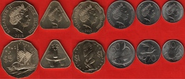 Cook Islands Set Of 6 Coins: 10 Cents - 5 Dollars 2015 UNC - Islas Cook