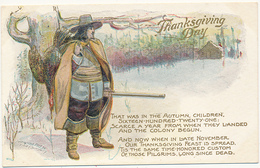 Thanksgiving Day - THAT WAS IN THE AUTUMN, CHILDREN...ETC., Copyrighted 1907 By F. C. Lounsbury, Embossed - Giorno Del Ringraziamento