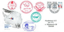 W30 RUSSIA 2002 46 RAE. International Expedition To The South Pole «ANTARCTIC ODYSSEY 2001-2002» - Voli Polari