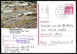 84863) BRD - P 138 - R15/208 - OO Gestempelt - 3000 Hannover 82, Luftaufnahme Messebahnhof - [7] West-Duitsland