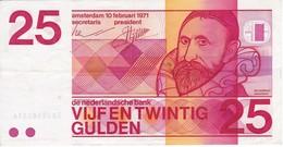 BILLETE DE HOLANDA DE 25 GULDEN DEL AÑO 1971  (BANKNOTE) FRANS HALS - [2] 1815-… : Reino De Países Bajos