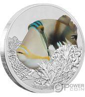 TRIGGERFISH Reef Fish 1 Oz Silver Coin 2 $ Niue 2018 - Niue