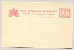 Nederlands Indië - 1916 - 5 + 5 Cent Cijfer Vürtheim II, Briefkaart G24 - Ongebruikt - Nederlands-Indië