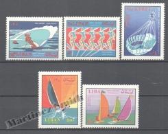 Liban - Lebanon - Libano 1969 Airmail Yvert 494-98, Nautical Sports - MNH - Lebanon