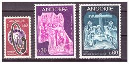 ANDORRA FR. -  1967 - TRE VALORI DEL PERIODO. -MNH** - French Andorra