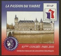 FRANCE Bloc FFAP N°4 (PARIS 2010) - Cote 12.00 € - FFAP