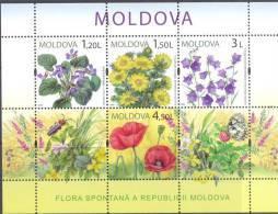 2009. Moldova,  Wild Flowers, S/s, Mint/** - Moldova