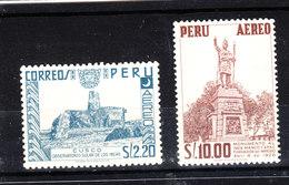 Perù  -  1953. Maia : Cuzco  E  Monumento A Manco Capac. MNH - Archeologia