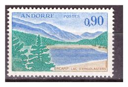 ANDORRA FR. -  1961/71 - VEDUTA DI ENCAMP E DEL LAGO D'ENGOLASTERS. -MNH** - French Andorra