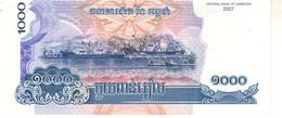 Cambodia P.58  1000 Riels 2007  Unc - Cambogia