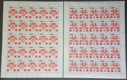 GL - Lebanon 1971 Complete Set 2v. MNH In FULL SHEETS /25 - 25th Anniv Of Lebanonese Red Cross - Lebanon