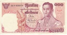 BILLETE DE TAILANDIA DE 100 BATH SERIE 22P DEL AÑO1969 EN CALIDAD EBC (XF) (BANKNOTE) - Tailandia