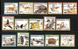 BOTSWANA, 2018 , ANIMALS, BIRDS, REPTILES, 15v.  MNH**, NEW!! - Timbres