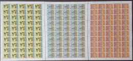 GL - Lebanon 1983 Complete Set 3v. MNH In FULL SHEETS /50 - LARGE SIZE - 75th Anniv Of Boy Scouts Mouvement - Liban