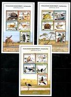 BOTSWANA, 2018 , ANIMALS, BIRDS, REPTILES, 3 S/S  MNH**, NEW!! - Timbres