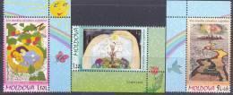 2009. Moldova, Childrens Drawings, 3v, Mint/** - Moldova