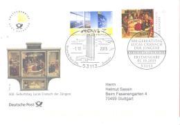 Bund 2015  Michel # 3181  Lucas Cranach - FDC: Covers