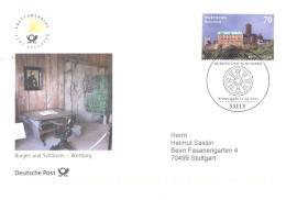 Bund 2017  Michel # 3310  Wartburg - FDC: Buste