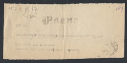 537d.Radio Telegram. Posted 1938 Moscow Sochi. The Moscow Stanislavsky Theater. - 1923-1991 USSR