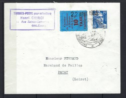Chambre De Commerce, Grève N° 2 Sur Lettre En 1953 - Postmark Collection (Covers)
