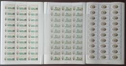 GL - Lebanon 1978 Complete Set 3v. MNH In FULL SHEETS /30 - LARGE SIZE - Mikhail Naimy, Poet, Paintings - Lebanon