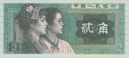(B0116) CHINA - PEOPLE'S REPUBLIC, 1980. 2 Jiao. P-882. UNC - China