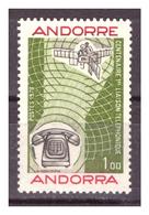 ANDORRA FR. -  1976 - CENTENARIO DEL PRIMO COLLEGAMENTO TELEFONICO.  - MNH** - Andorre Français