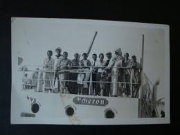 """Altes Original-Foto-Karte 2. WK., Marinesoldaten + Eisbär(Kostum) Auf Der """"Acheron"""" - 1939-45"""