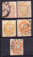 HONGRIE ( JOURNAUX ) : Y&T N°  2/4 B  TIMBRES  BIEN  OBLITERES . - Newspapers